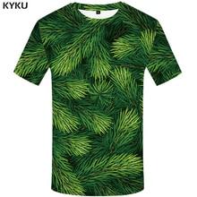 KYKU Christmas Tree T Shirts Men Xmas Tshirt Man Leaf Print T Shirt Punk Rock Clothes Green 3d T-shirt Anime Mens Clothing New