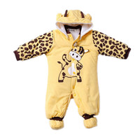 Winter Baby Rompers Boy Girl Hat Jumpsuit Shoes Sets Down Coat Baby Clothes Layette Kids Suit