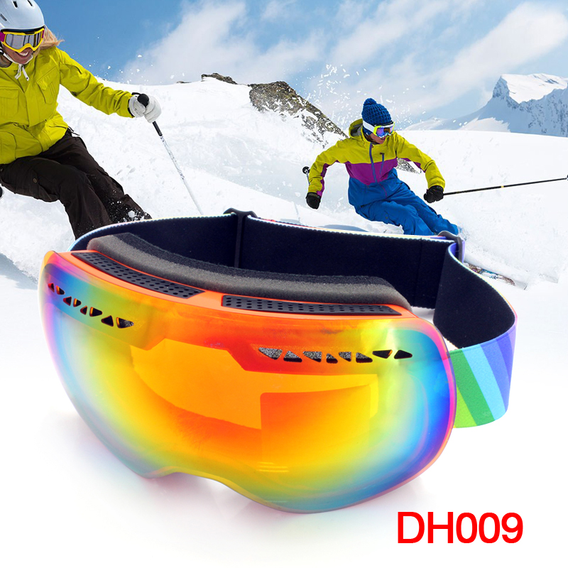 TPU Mountain font b Snowboard b font Goggles UV400 Winter Glasses Double Anti fog Lens Big