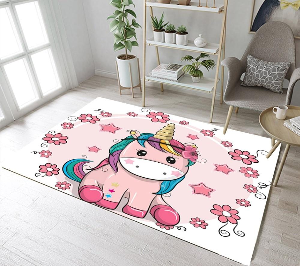 Bedroom Carpet Online Toddler Bedroom Door Gate Bedroom Ceiling Design 2017 Elephant Bedroom Decor: Kids Unicorn Stars Flowers Rugs And Carpets For Baby Home