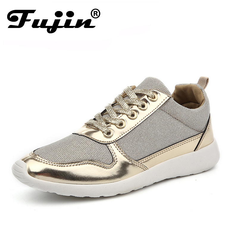 Fujin brand Spring Size 36-41 New Fashion ladies shoes Chaussure Femme 2018 Women Shoes Platform Shoes Woman Gold Silver Shoe new 2017 spring summer women shoes pointed toe high quality brand fashion womens flats ladies plus size 41 sweet flock t179