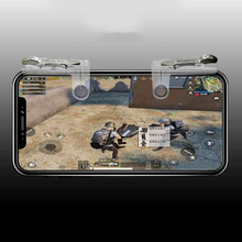 For PUBG Phone Gamepad Metal Trigger Fire Button Aim Key Smart Phone Mobile Games L1R1 Shooter Controller PUBG for Android Iphon mobile phone holder metal smart gaming trigger for pubg mobile gamepad for iphone x fire button aim key l1r1 shooter controller