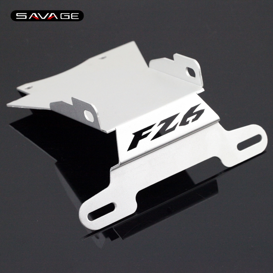 For YAMAHA FZ6 N/S FZ6N FZ6S FZ-6N 2004-2009 Silver Motorcycle Tail Tidy Fender Eliminator Registration License Plate Holder motorcycle tail tidy fender eliminator registration license plate holder bracket led light for ducati panigale 899 free shipping