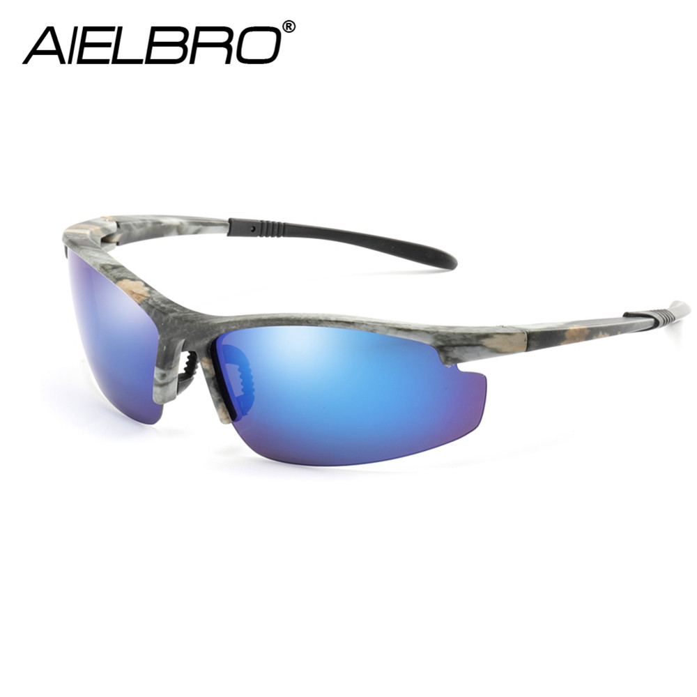 Купить с кэшбэком AIELBRO High Quality Men Polarized Glasses Ultralight Windproof UV Protective Fishing Cycling Sport Sunglasses
