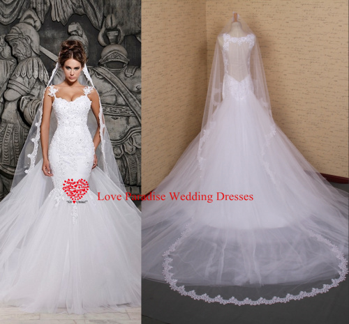 R Sheen Wedding Dresses Prices : Real model lowest price white lace and see through