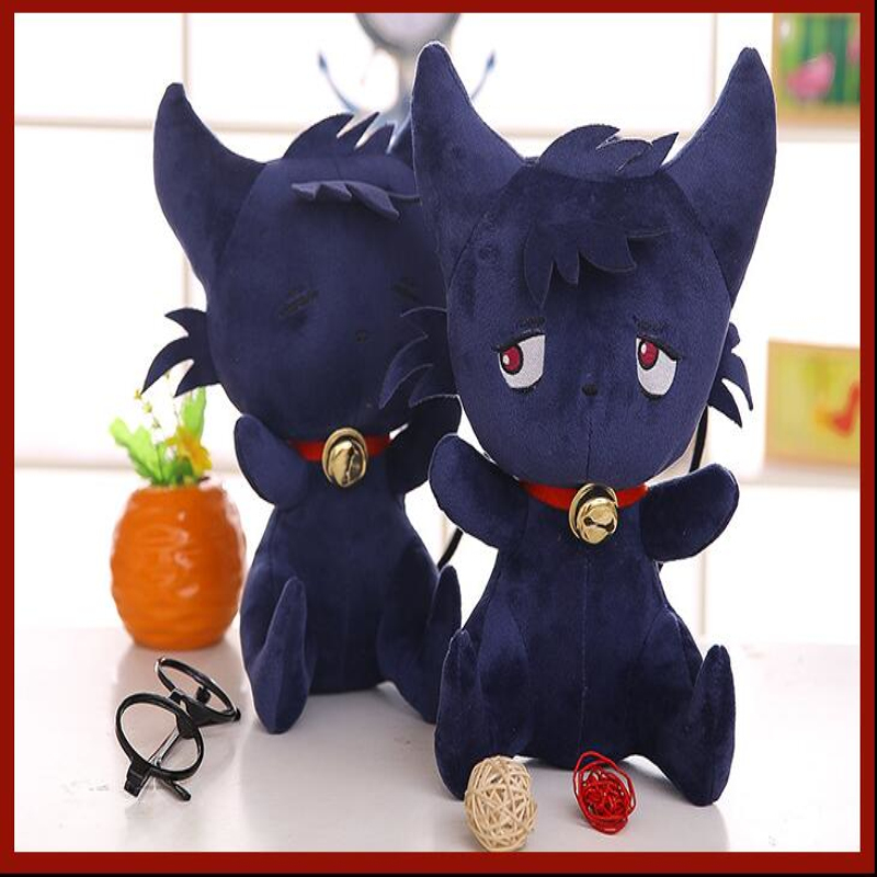 New Cute Cartoon 35cm Servamp Sleepy Ash Black Cat Plush Soft Animal Stuffed Toy Baby Kids Birthday Gifts High Quality Dolls футболка toy machine devil cat black