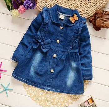 453cbc0cf 2018 chaquetas de mezclilla niñas encantadora mariposa niños prendas de  vestir exteriores para niñas manga larga