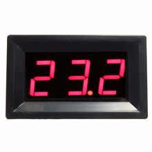 DC12V Digital Thermocouple Thermometer Red LED Temperature Meter 0~999 Celcius with Probe цена
