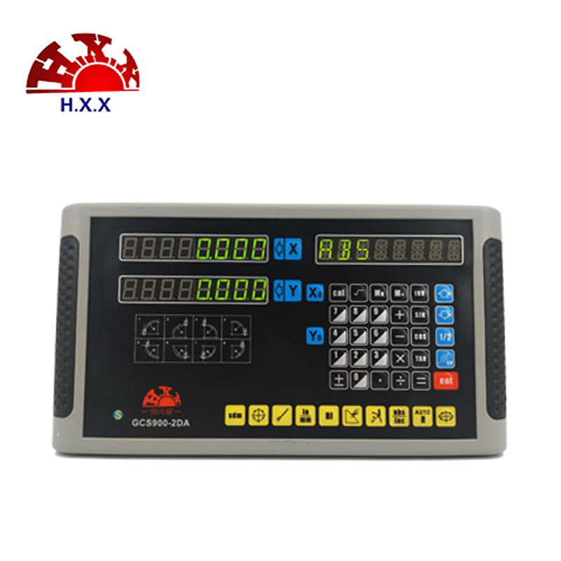 2018 professional digital readout 2 axis DRO HXX Factory GCS900-2DA for lathe/milling machine hxx high precision multifunction new dro set gcs900 2da and 2 pc linear glass scales 5u gcs898 50 1000mm for machines