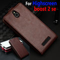 High Quality luxury Genuine wallet Leather Case for Highscreen boost 2 se boost2 2se Flip Cover case with credit card holders