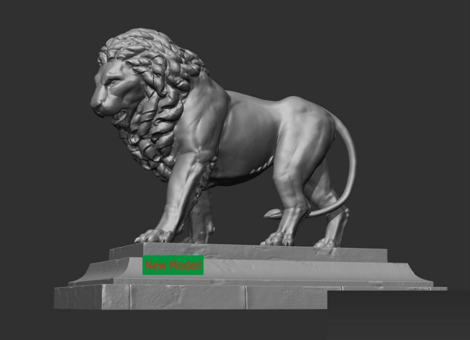 3d Model Relief For Cnc In STL File Format Lion-in Wood