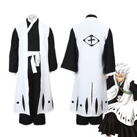 Anime Bleach Costumes Die pa Hitsugaya Toushirou Cosplay Japanese men's kimono set for Halloween Cosplay
