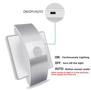 Image 5 - USB Oplaadbare Night Light Met Motion Sensor 14 LED Sensor Licht Draadloze Wandlamp Licht Voor Kids Slaapkamer Nachtkastje Trap