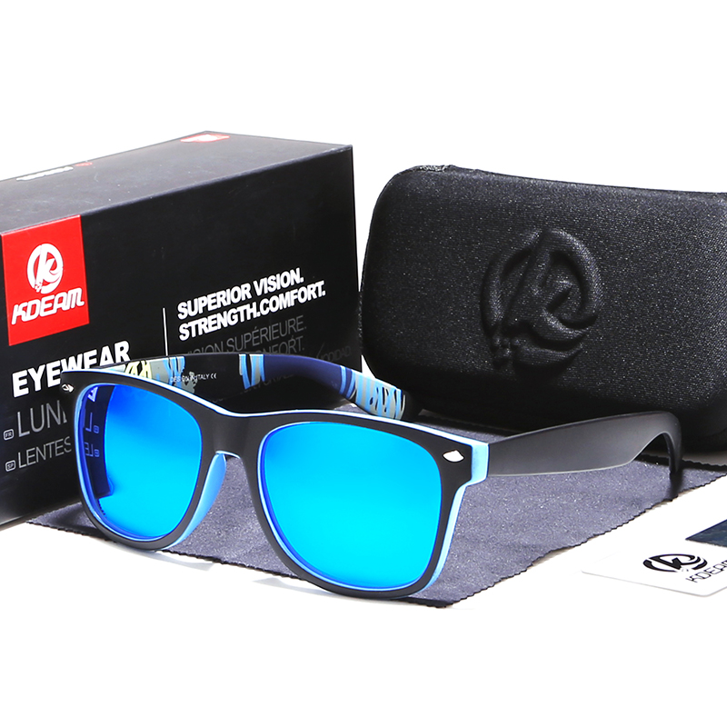 KDEAM 2018 Sunglasses Polarized Men Square Sun Glasses Outdoor Classical Women Brand design Eyewear 100%UV400 6 Colors KD1012