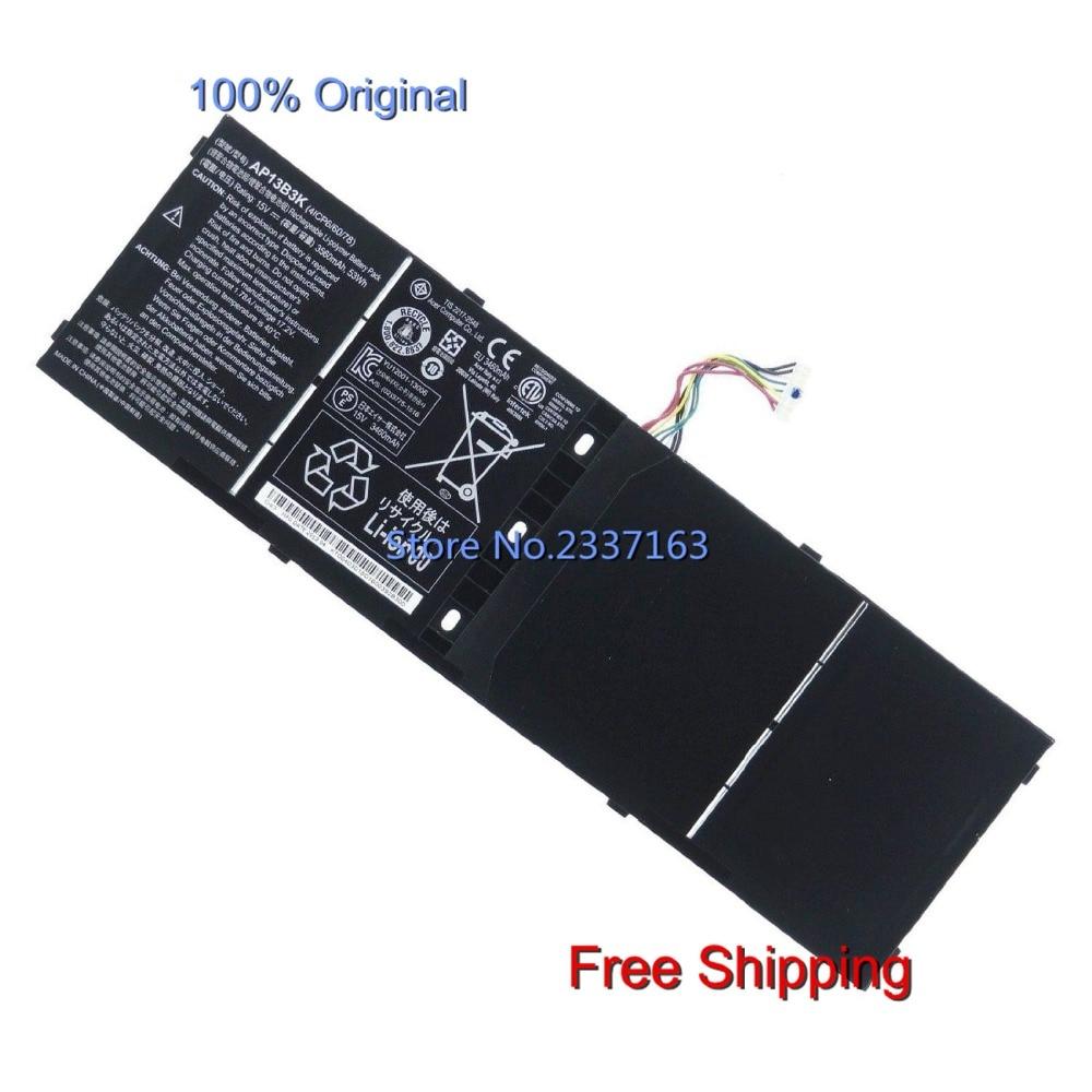 IECWANX 100% new Laptop Battery AP13B3K (15V 53Wh 3560mAh ) for Acer Aspire V5 V5-572G V5-572P KT.00403.015
