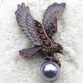 Atacado & varejo de Moda Pássaro Broche de Strass Esmalte Águia Pin broches presente Jóias C101634