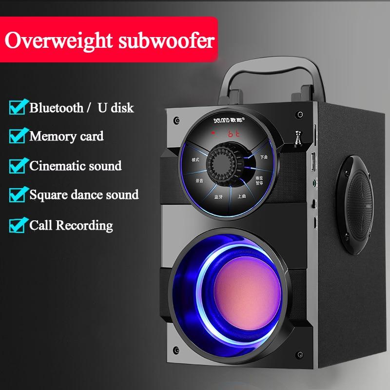 S37 большой Мощность открытый Bluetooth Динамик портативная беспроводная стереоколонка Бас Сабвуфер Динамик s Поддержка удаленного Управление