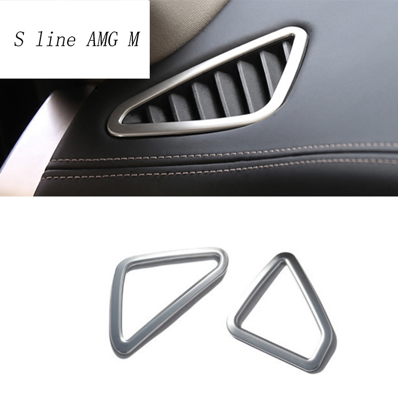 Car Styling AC Outlet Trim Refit Air Outlet Frame Decoration ABS Chrome Stickers Cover For BMW X5 F15 2014-2017 Auto Accessories
