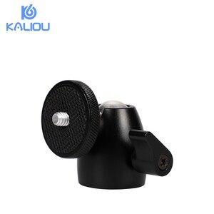 """Image 2 - Kaliou Mini trípode cabeza de bola de 360 giratorio DSLR DV cámara Mini trípode Dsr Ballhead 1/4 """"soporte de montaje de tornillo DSLR Mini trípode"""