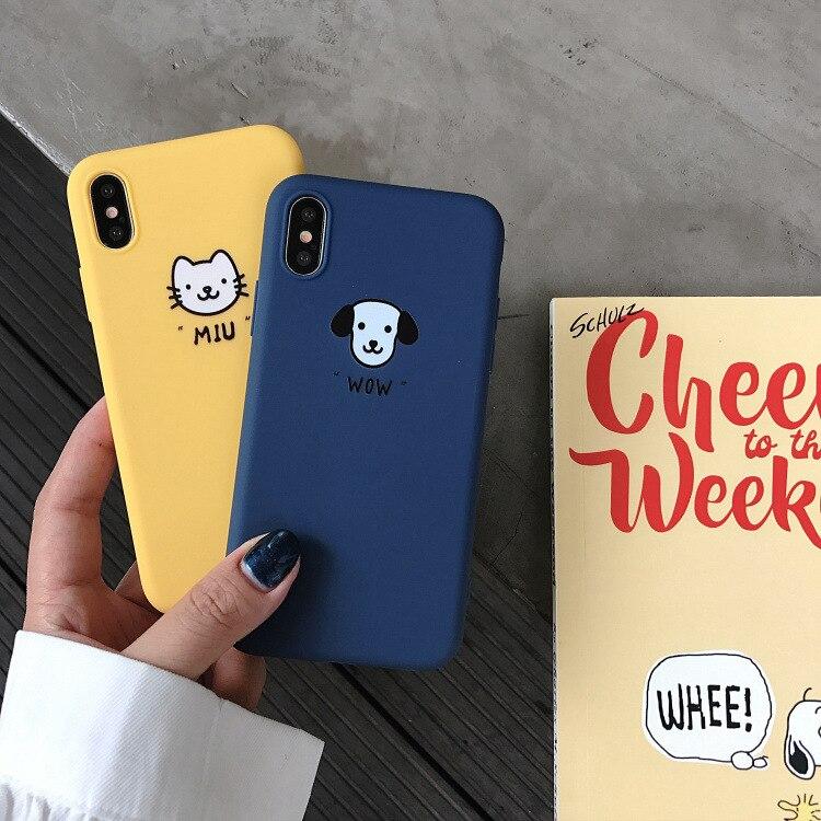 Cute Animal Cover Silicone Phone Case for iPhone 6 6s plus 7 7Plus 8 8Plus X
