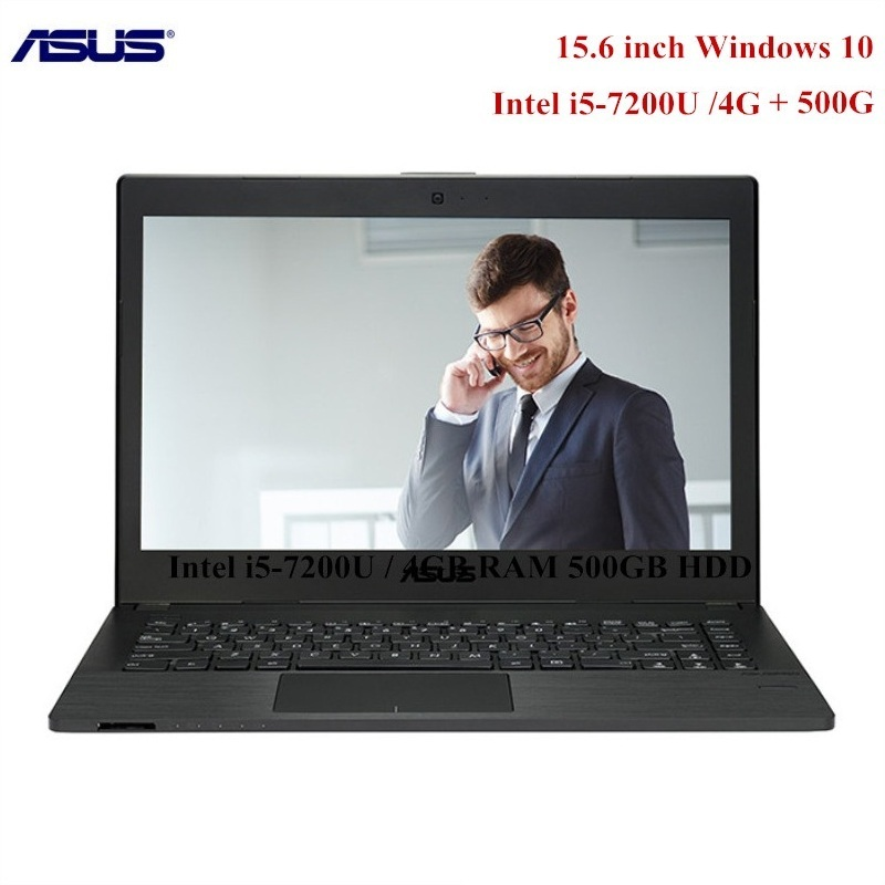 ASUS P2540UV7200 Notebook 15.6 Inch Windows 10 Pro Intel I5-7200U Dual Core 2.5GHz 4GB RAM 500GB HDD Laptop Fingerprint HDMI