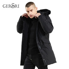 Gersri Thick Parka Men Brand Winter Jacket Men Outwear Winter Fashion Long Coats Fur Collar Hooded Male Windberaker Warm Parkas(China)