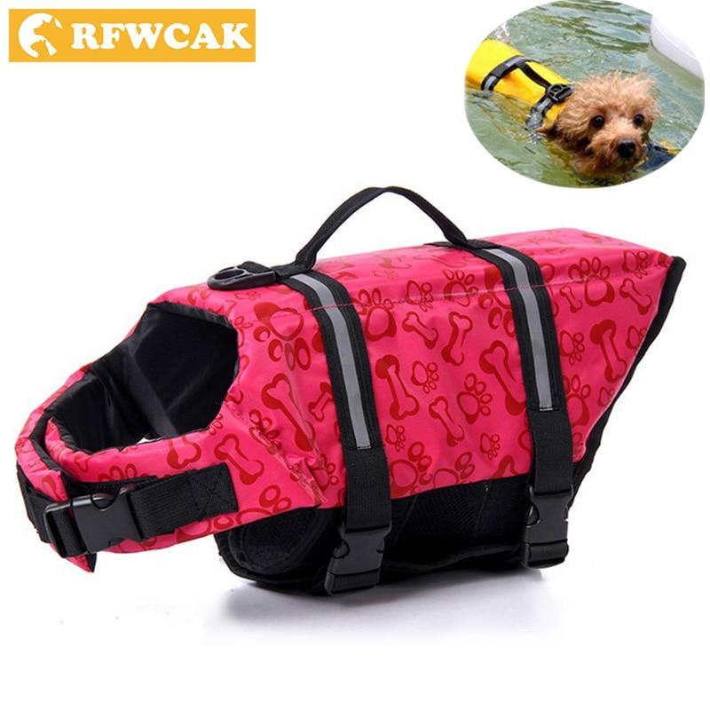 RFWCAK Pet Aquatic fényvisszaverő tartály úszó mellkasi kutya macska megmentő mentőmellény Biztonsági ruhák szörfözéshez úszásruhákhoz