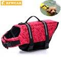 RFWCAK Pet Aquatic Reflective Preserver Float Vest Dog Cat Saver Life Jacket Safety Clothes For Surfing Swimming Vest Swimwear