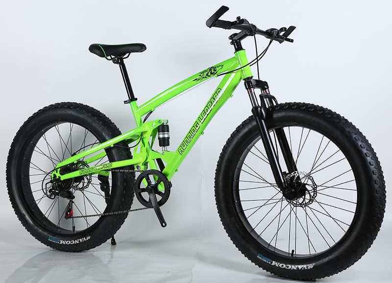 Новое поступление 4,0 дюймов Большой зимняя резина горный велосипед 26 дюймов 21/24/27 скоростей для горного велосипеда bicicleta велосипедные фары Бесплатная доставка
