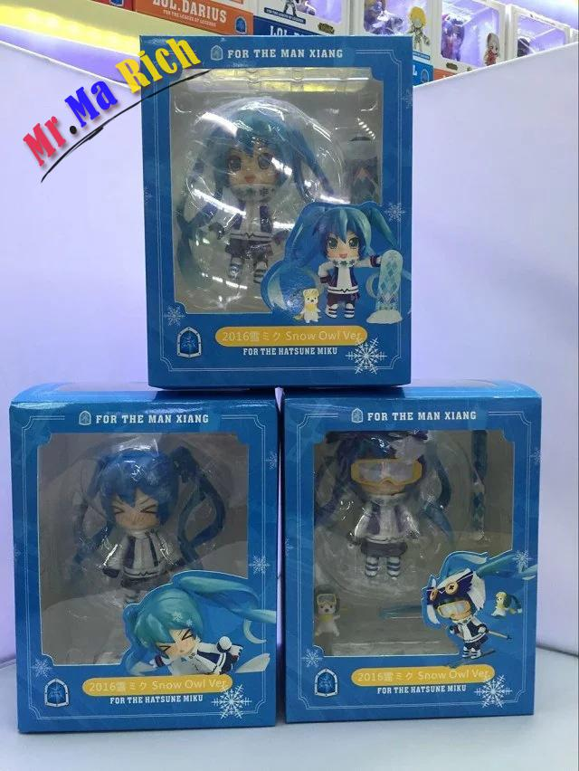 3pcs/set Ski Hatsune Miku Q Version Anime Collectible Action Figure Pvc Toys For Christmas Gift With Retail Box Free Shipping A Great Variety Of Goods