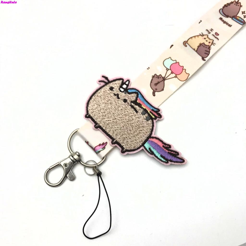 Image 3 - R156 Small flower decals key lanyard ID badge holder animal phone neck strap with key ring-in Mobile Phone Straps from Cellphones & Telecommunications