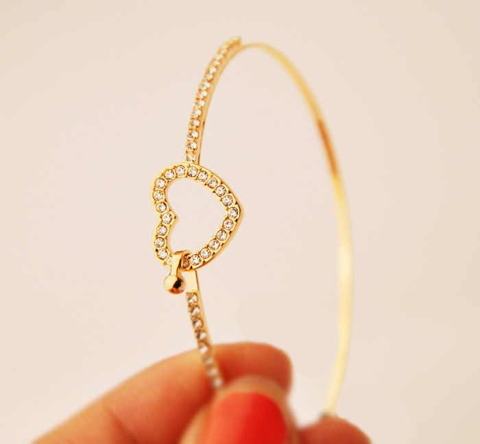 Gorąca sprzedaż pusty łańcuch i Link bransoletki Trendy złoty kolor srebrny geometryczne regulowane bransoletki dla kobiet moda prezent