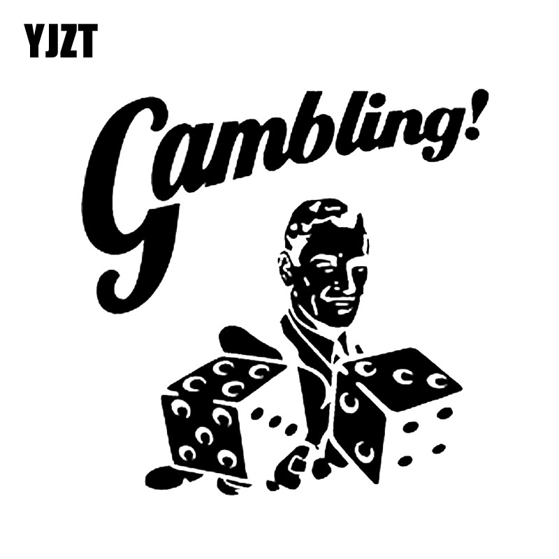YJZT 14.5*14.5CM Interesting Dice Gambling Poker Graphic Car Sticker Vinyl Decorative C1 ...