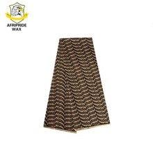 2018 tessuto africano ankara alta qualità all'ingrosso africano fiore 100% cotone tessuto cera reale broccato per abbigliamento A18F0168
