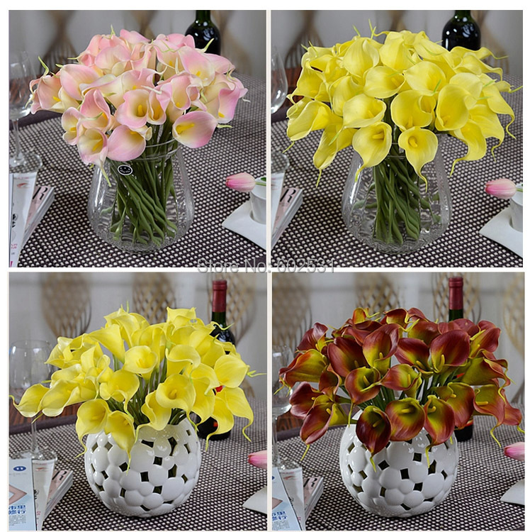 20pcslot Simulation Single Callas Silk Flowers Home Decoration
