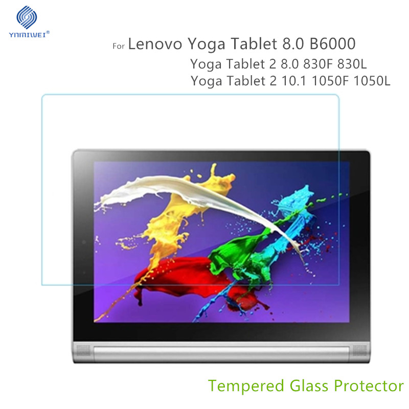 For Lenovo Yoga B6000 Glass Screen Protector For Lenovo YOGA Tablet 2 8.0 Inch 830F 830L 1050F 1051F 1050L Tempered Glass Films