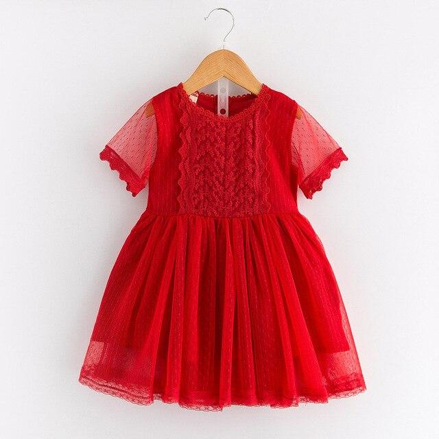b1cb1818e0e Chaude De Mode Bébé Fille Dentelle Robe Infantile Princesse Style D été  Blanc À Manches