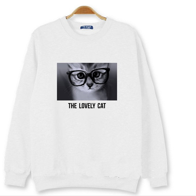 BTS BTS long sleeve round collar cat head men and women casual wear student tide.Hooded sweatshirt with hoodie.