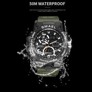 Image 2 - SMAEL 2020 Sport Watch Men Dual Time Waterproof 50M Miliatry Watches Chrono Alarm Wristwatch Vintage Classic Digital Watch 8011