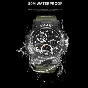 Image 2 - SMAEL 2020 montre de Sport hommes double temps étanche 50M miliatrie montres Chrono alarme montre bracelet Vintage classique montre numérique 8011