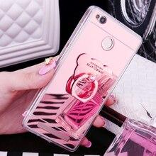 Luxury Mirror Stand Holder Soft TPU Case For Xiaomi