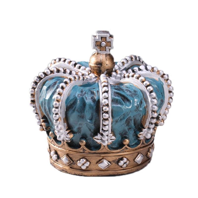 Vintage Home Decor Crown Carriage Retro Ornaments Resin ...