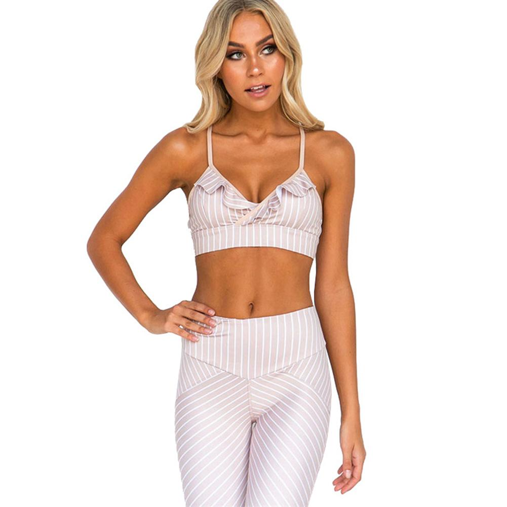 Sexy Sport Suit Women Pink Yoga Set Breathable Gym Sport Wear Elastic Fitness Clothing Quick Dry Training Running Dancing Suit in Yoga Sets from Sports Entertainment