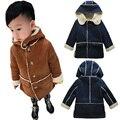 Новый Мальчик Куртка Дети верхняя одежда Пальто для Детей Куртки для Мальчика Девушки Зимняя Куртка Теплая С Капюшоном Детская Одежда Детская Одежда