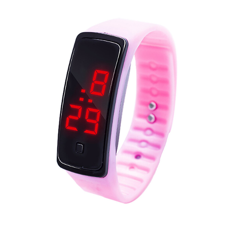 Simple Men Watch LED Digital Display Bracelet Watch Children's Students Silica Gel Sports Watch Clock relojes hombre Y09#N (1)
