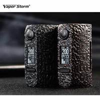 E cigs Vapor Storm Puma Stone Mod Max 200w bypass/ss 8 different Modes ecigarette boxing mod Vape Mod By Dual 18650 Battery