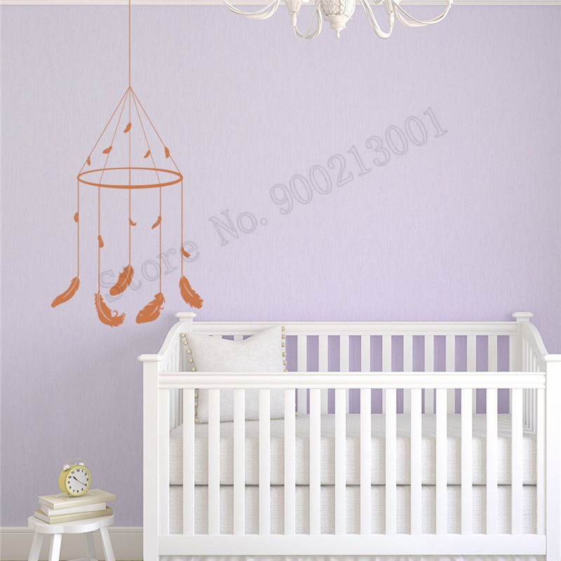 Wall Decoration Nursery Baby Kids Room Sticker Dream Catcher Ornament Beautiful Poster Vinyl Art Removeable Mural LY592 in Wall Stickers from Home Garden