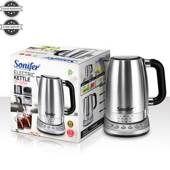 220V Elektrikli Su ısıtıcısı Paslanmaz çelik 2200W Ev Mutfak Hızlı ısıtma Kaynar çaydanlık Pot Sıcaklık Ayarlı Sonifer