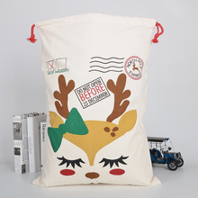 2Pcs Durable Big Christmas Party Gift Cotton Bag Favor Holder with Drawstring Reusable Decoration Storage High Quality