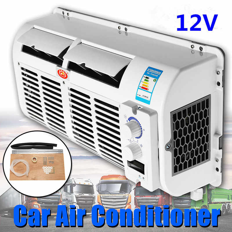 100W 12V/24V Wall-mounted Car Air Conditioner Air Dehumidifie Multifunction Cooling Fan Evaporator For Car Caravan Truck